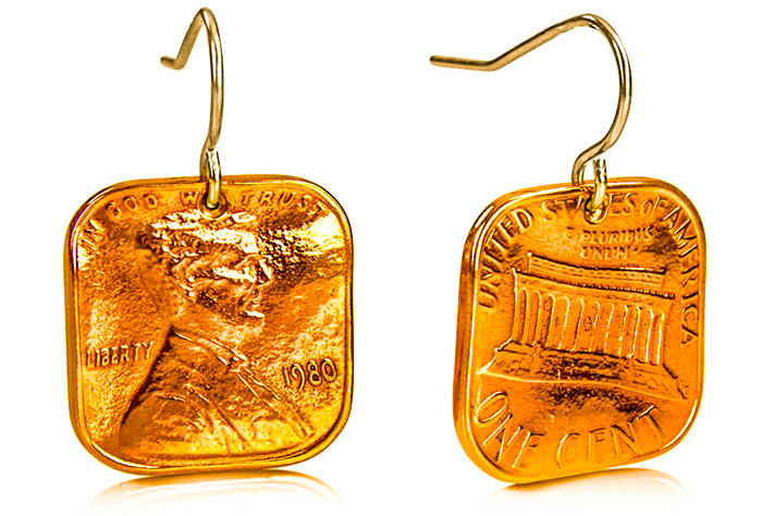Squeezed Square Penny Earrings P-22.jpg