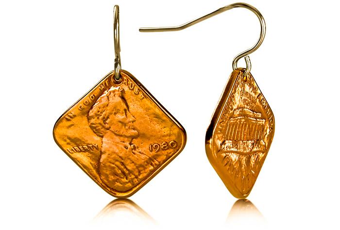 Squeezed Diamond Penny Earrings P-23.jpg