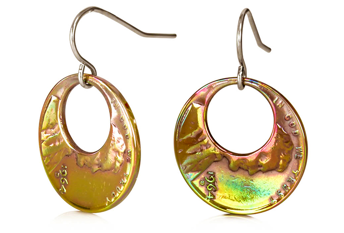 Eclipse Penny Earrings (Small) Fire Finish P-18f.jpg