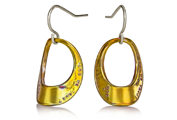 Arched Eclipse Penny Earrings (Large) Fire Finish P-11f.jpg