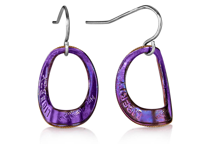 Arched Eclipse Dime Earrings (Large) Fire Finish D-04f.jpg