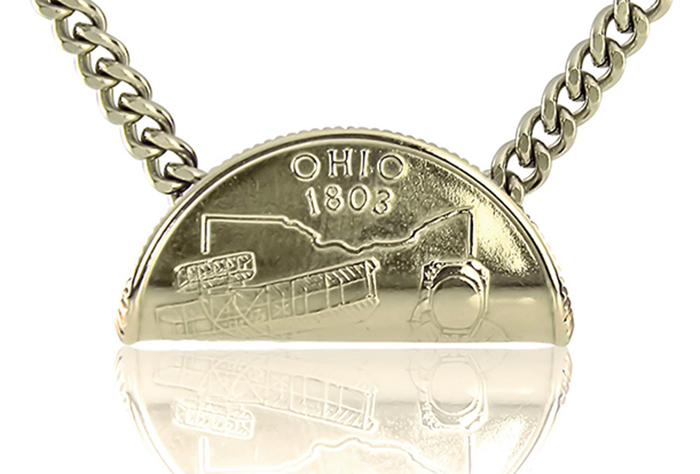 Rolled State Quarter Necklace OH.jpg
