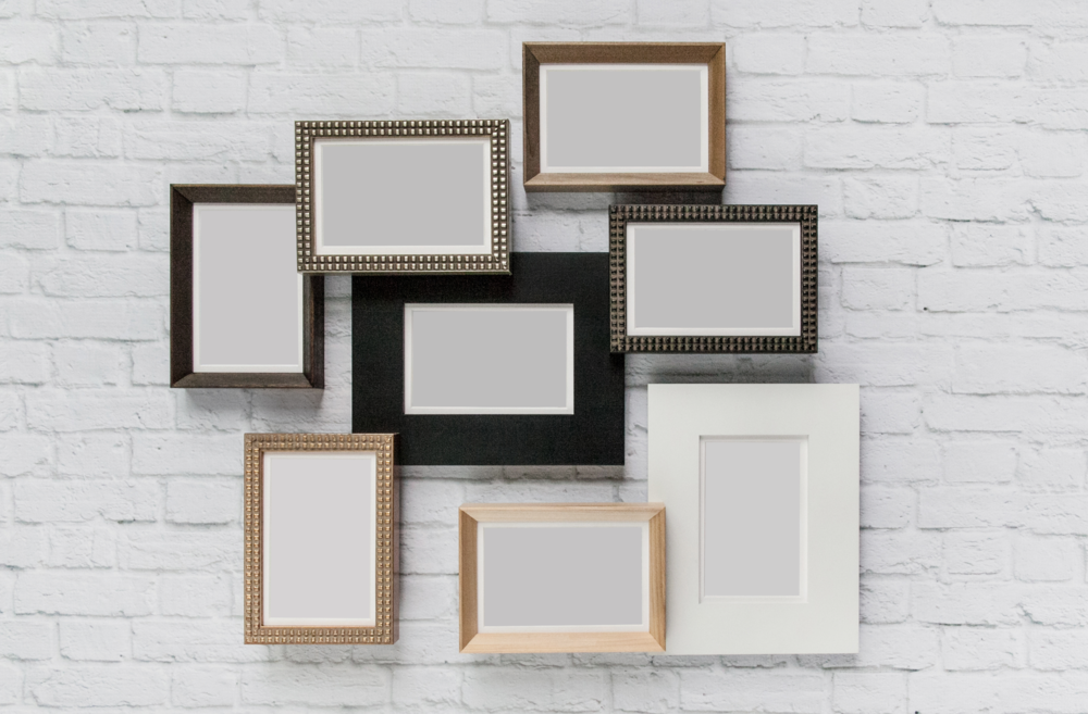 Various frame styles available to fit the look of your home or office!