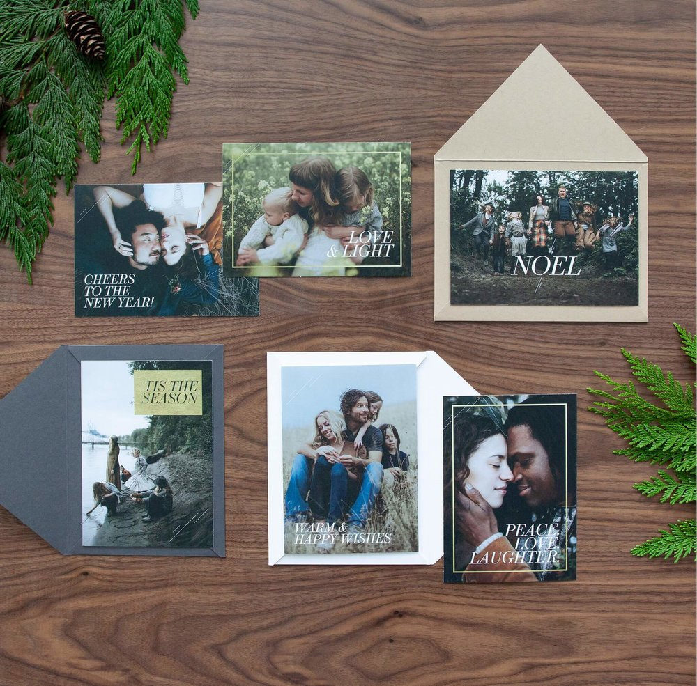 Holiday Cards & Envelopes —  $50 for 25 premium cards & envelopes