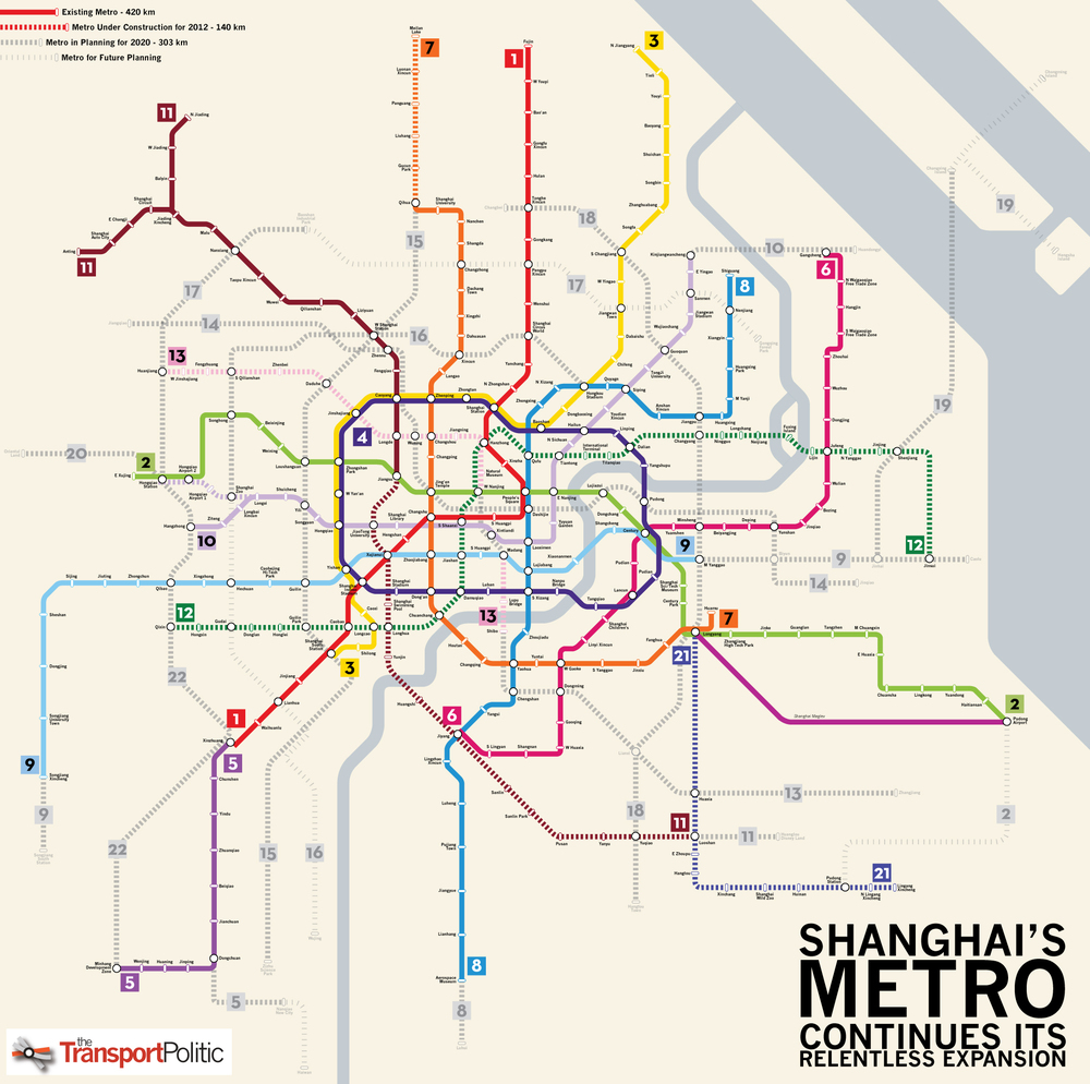 Models will usually be spared this complicated subway system
