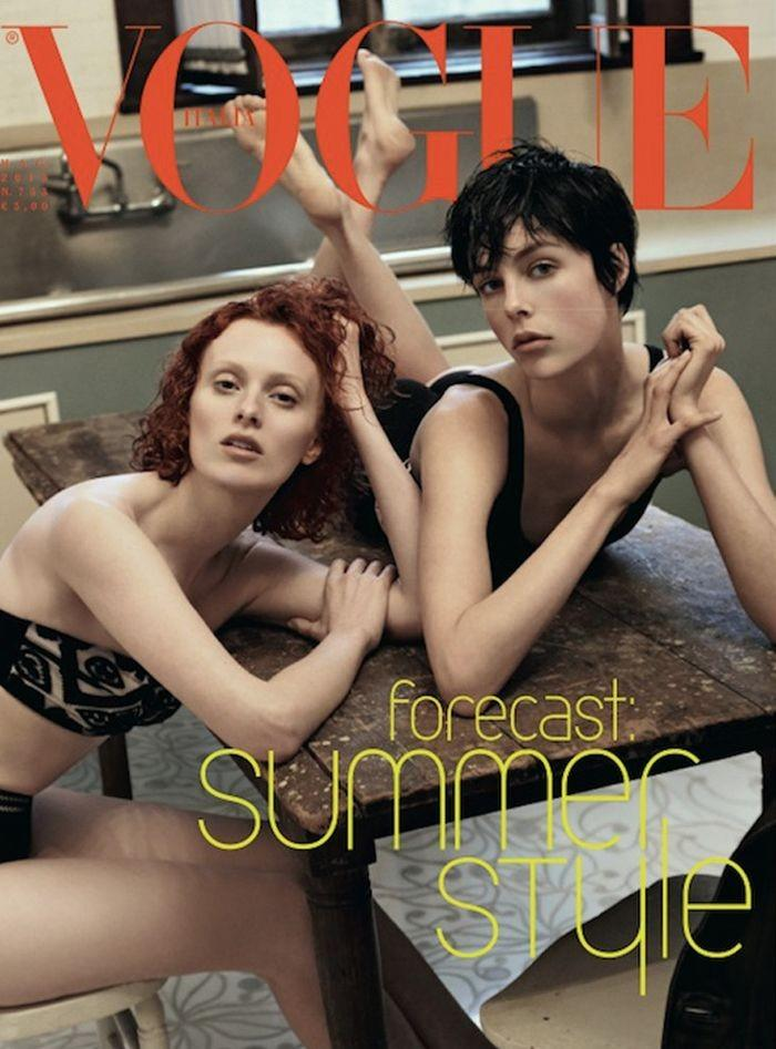 Vogue Italia May 2013 featuring Karen Elson and Edie Campbell