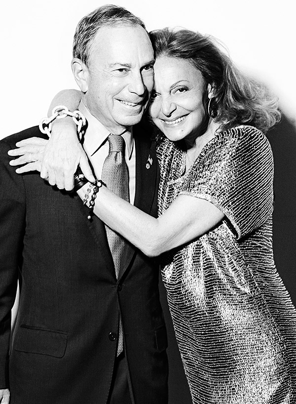 Diane Von Furstenberg and Mayor David Bloomberg (photo from V Magazine)