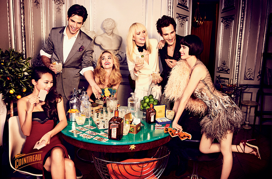 Cointreau supplement in Vogue by Ellen Von Unwerth