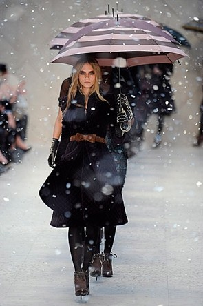Cara Delevingne at Burberry in 2012