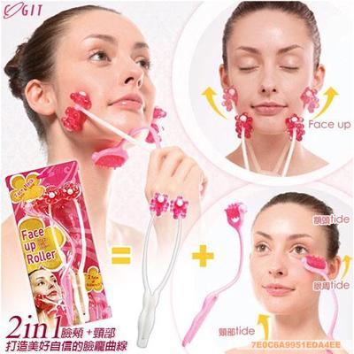 Japan veteran, Crystal May Brough, modelling facial rollers