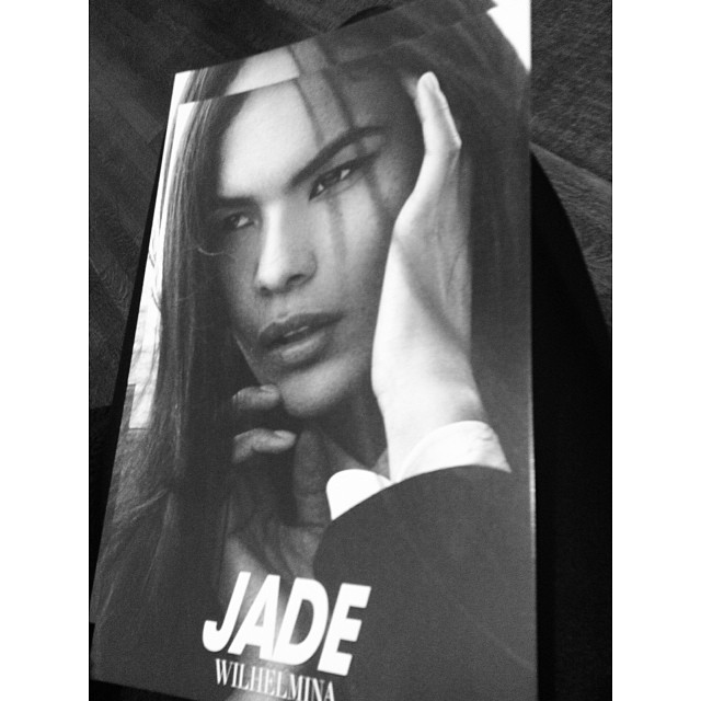 Jade WIlloughby's Wilhelmina NYC show card for this season