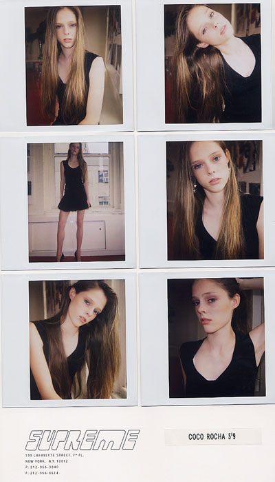Coco Rocha's polaroids as in teen model in NYC