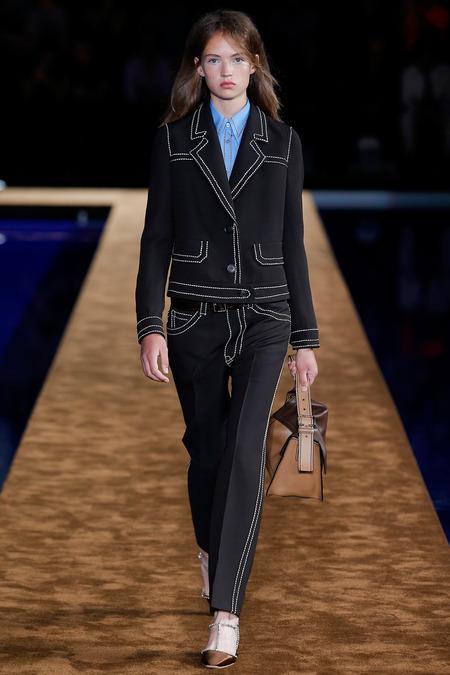 Adrienne Juliger at Prada Menswear Spring 2015 |  Style.com