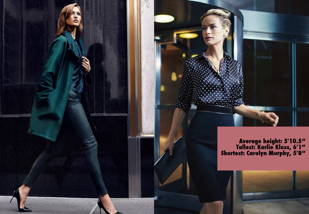 Karlie Kloss for Neiman Marcus Fall 2014; Carolyn Murphy for Jones New York Spring 2014 by Norman Jean Roy