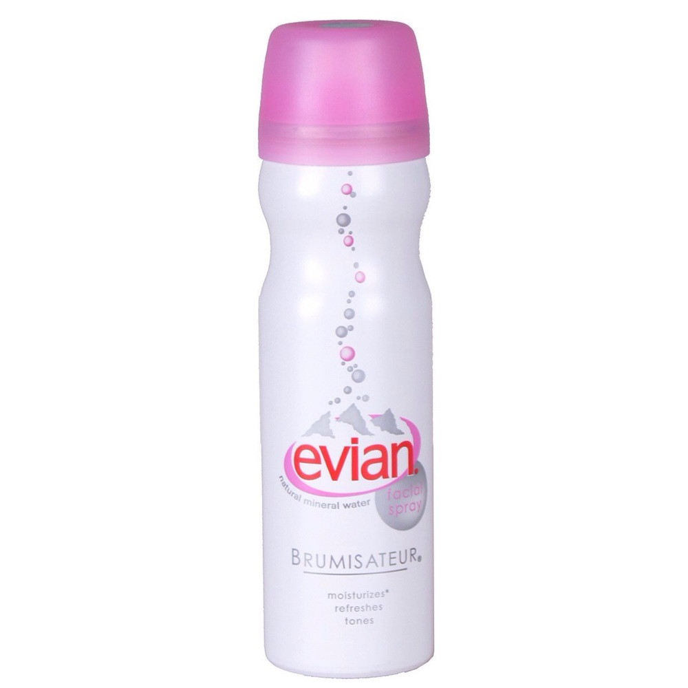 Evian Mineral Water Spray, $12 for 5oz |  Amazon