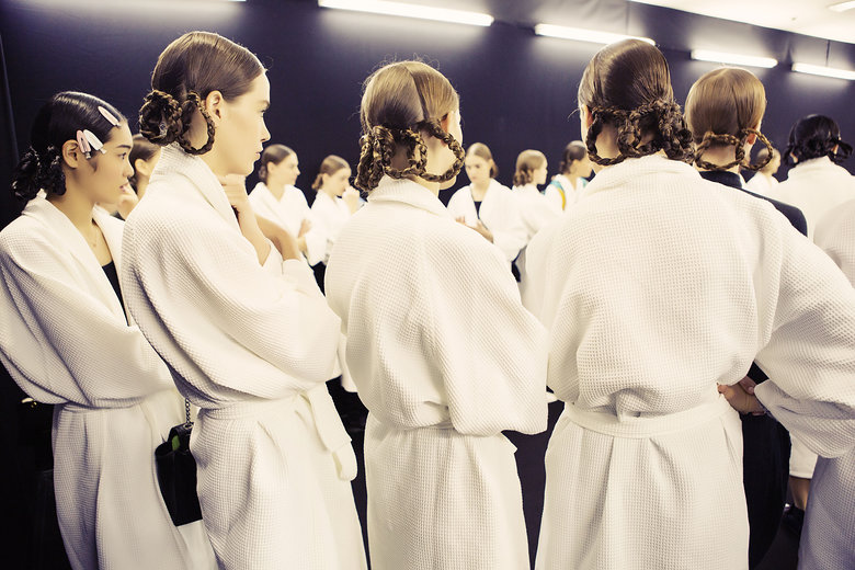 Backstage at Dior |  Vogue.com