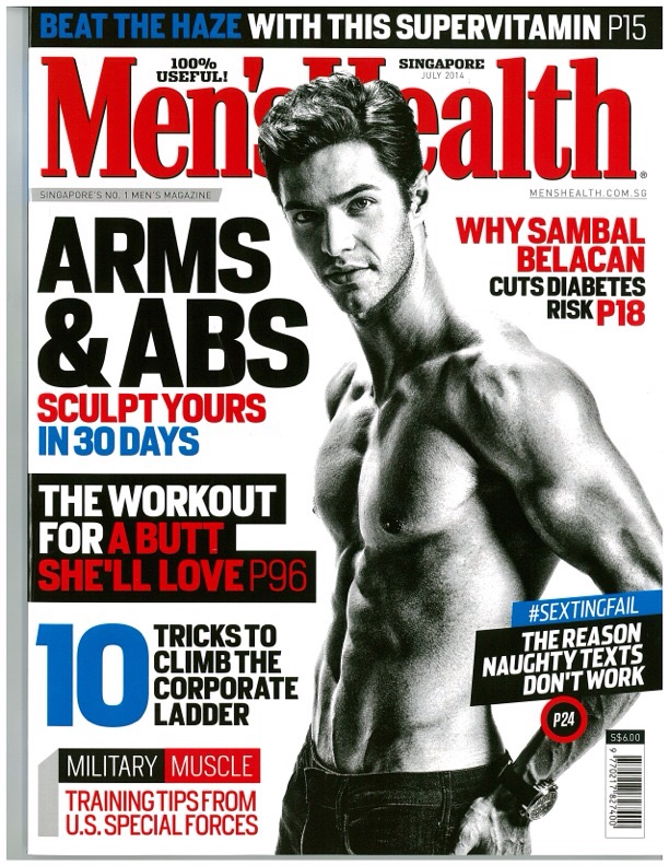 Thomas Castilho covers Men's Health Singapore