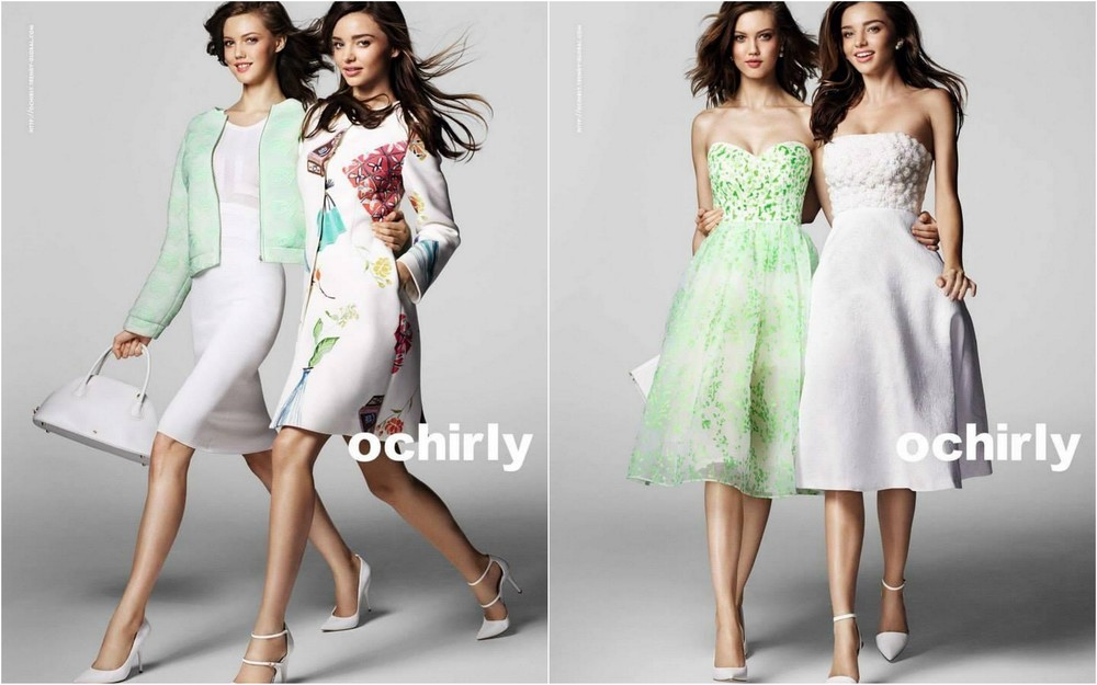Lindsey Wixson and Miranda Kerr for Ochirly S/S 2015 shot by Mario Testino| Models.com