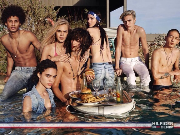 Drea's new face George (fourth from left), for Tommy Hilfiger S/S 2015 campaign | I mage courtesy of Drea Vujovic