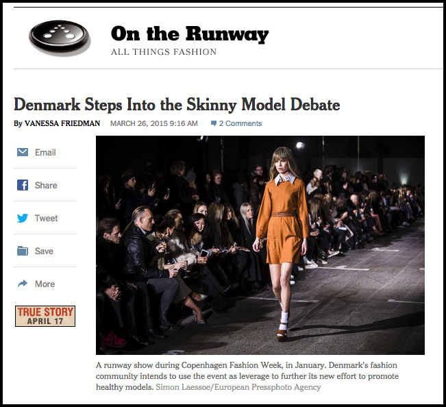 Screenshot of New York Times online