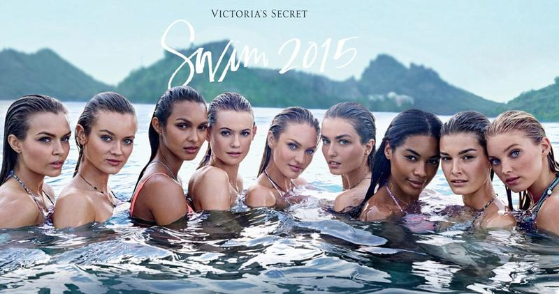 Elsa Hosk (far right) for Victoria's Secret Swim 2015 |  Source