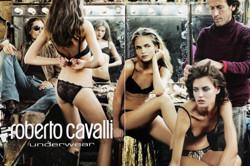 Natasha Poly, Bianca Balti for Roberto Cavalli Underwear F/W   2005 campaign shot by Annie Leibovitz |   Source