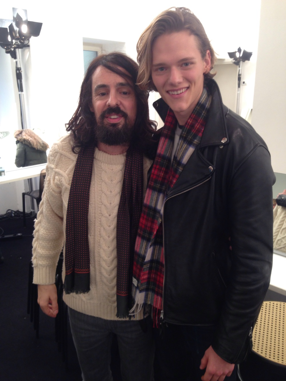 Ryan with Alessandro Michele of Gucci | Want Management