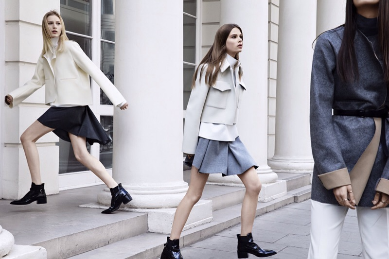 Julia Nobis and Caroline Brasch Nielsen for Zara F/W13 by Patrick Demarchelier |  Source