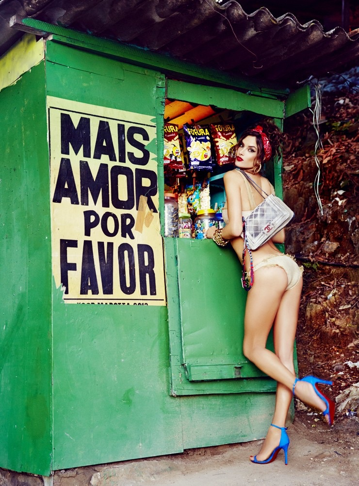 Alessandra Ambrosio (DNA) for   Vogue Brasil   September 2014 by Ellen von Unwerth