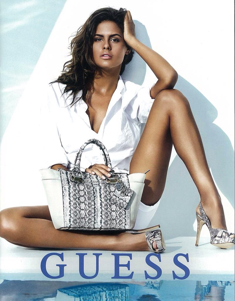 Serbian model Bojana Krsmanovic (The Lions) for Guess by Pulmanns. Krsmanovic is also a 2016 Sports Illustrated Rookie.