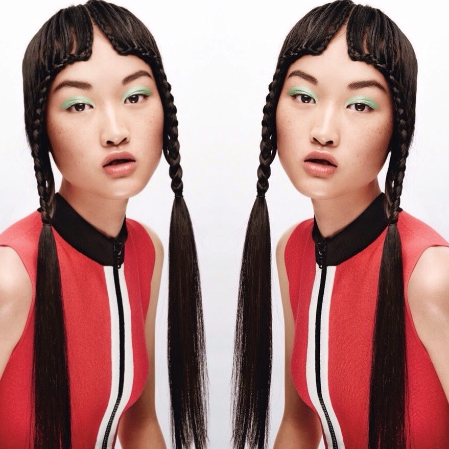 Chinese model Jing Wen (Supreme) for Teen Vogue February 2015 by Jason Kibbler. Wen has also appeared in campaigns for Calvin Klein and Tommy Hilfiger.