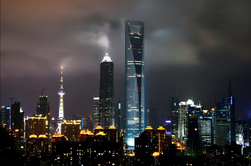 Shanghai skyline by night | Source