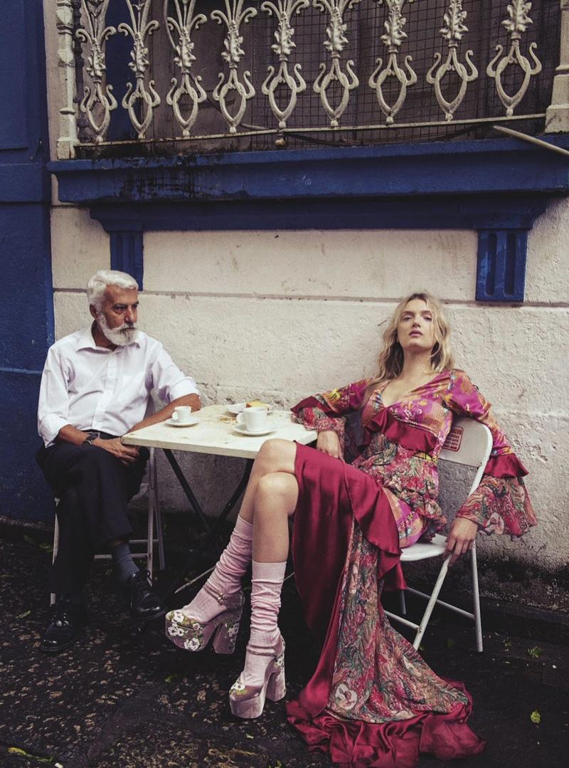 Lily Donaldson for  Vogue Australia  shot by Sebastian Kim |  Source
