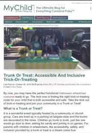 "We participated in an accessible ""trunk or treat"" Halloween event."