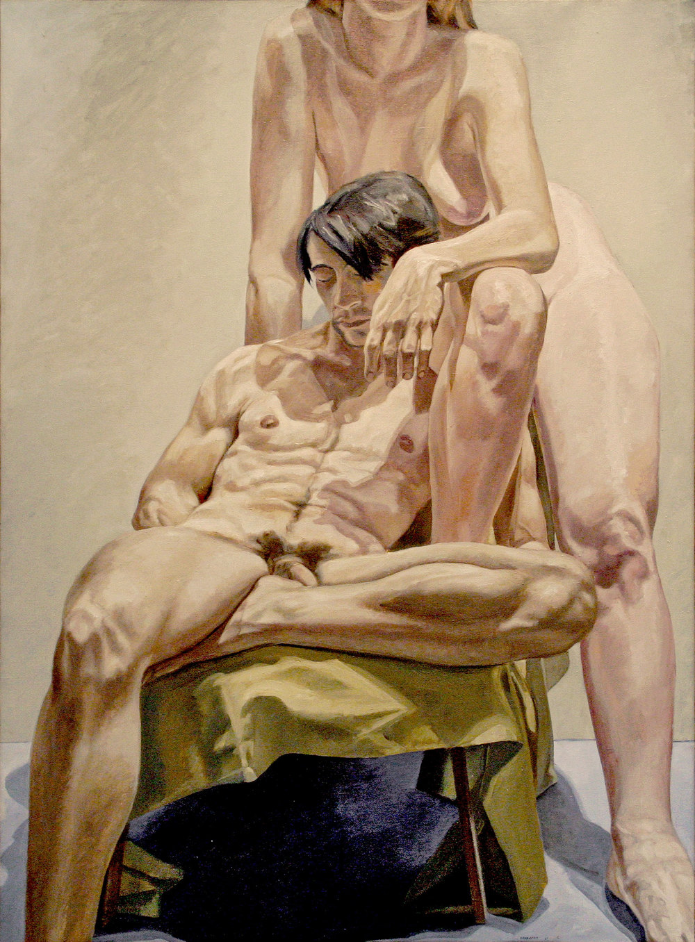 Models in the Studio , 1965 Oil on canvas 72 x 53 inches
