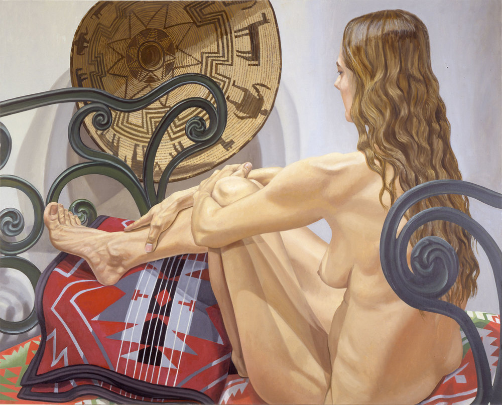 Navajo Basket with Cast Iron Bed , 1996 Oil on canvas 48 x 60 inches