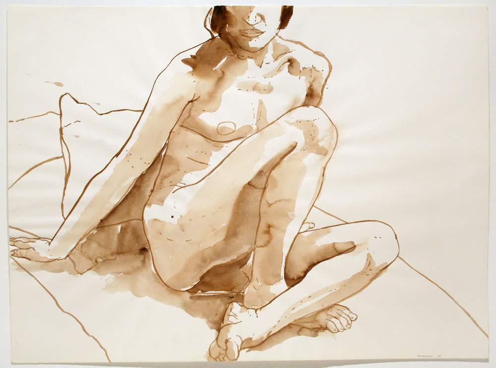 SEATED NUDE , 1968 Watercolor on watercolor paper 22 x 30 inches