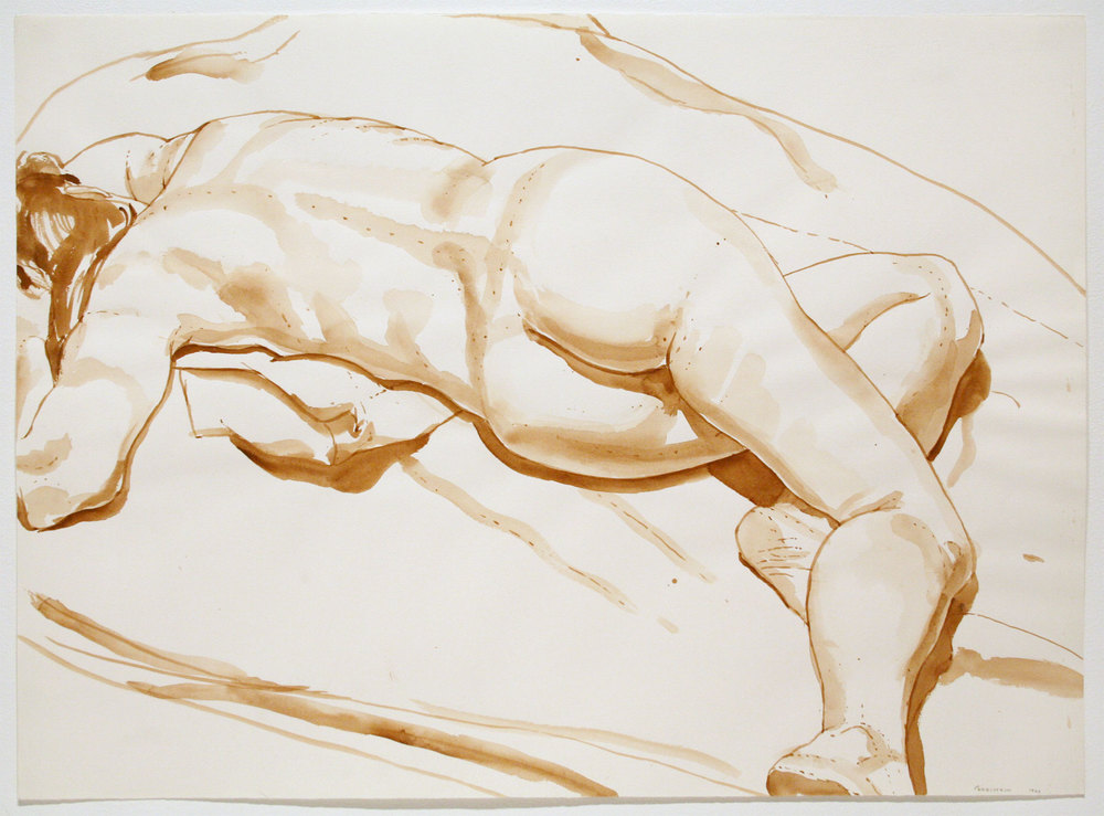 Reclining Nude , 1969 Watercolor on watercolor paper 21 3/4 x 29 3/4 inches