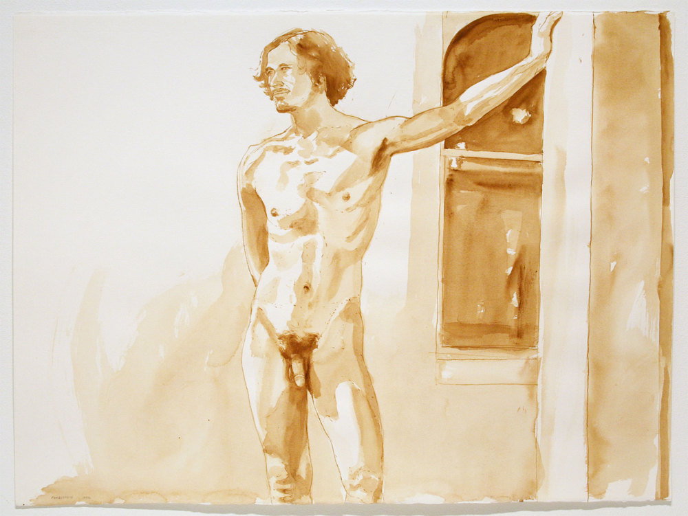 STANDING MALE , 1972 Watercolor on watercolor paper 22 x 30 inches