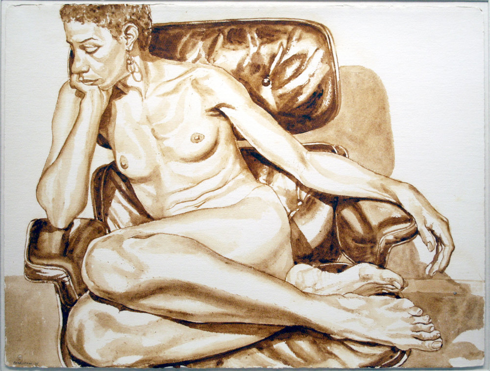 UNTITLED , 1975 Sepia wash 23 x 30 inches