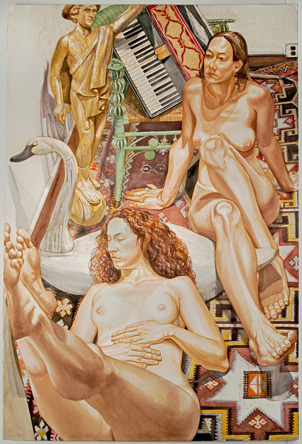 Mercury and Accordion II , 1993 Watercolor on paper 60 x 40 1/2 inches