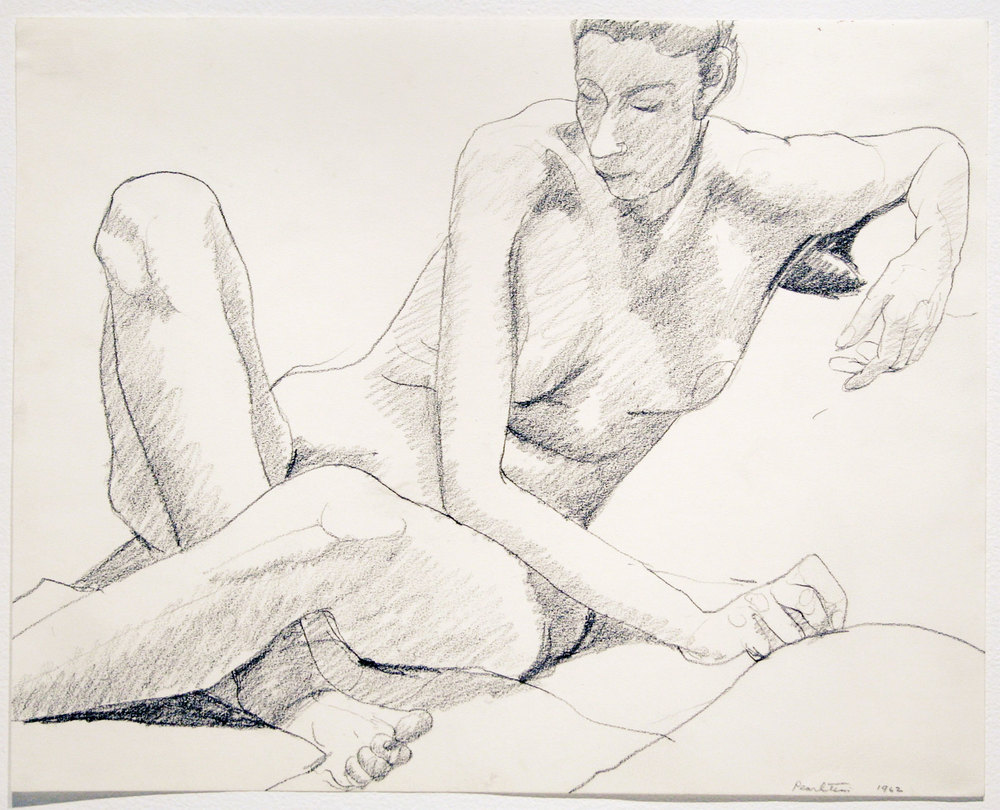 SEATED NUDE , 1962 Pencil on paper 11 x 14 inches