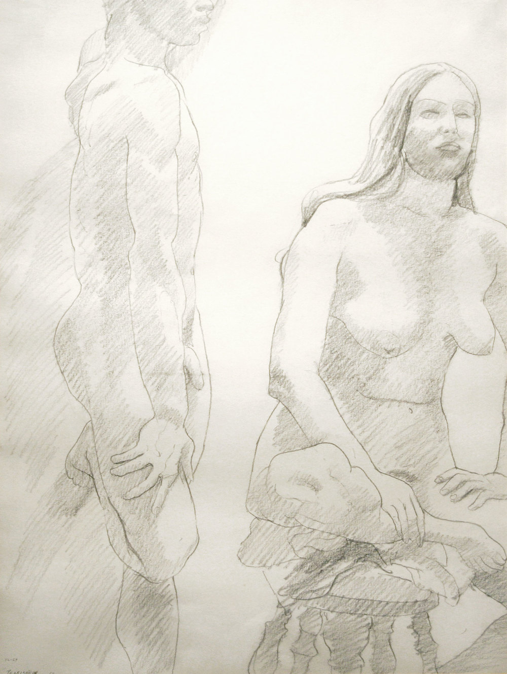 UNTITLED , 1968 Pencil on paper 23 1/2 x 17 1/2 inches