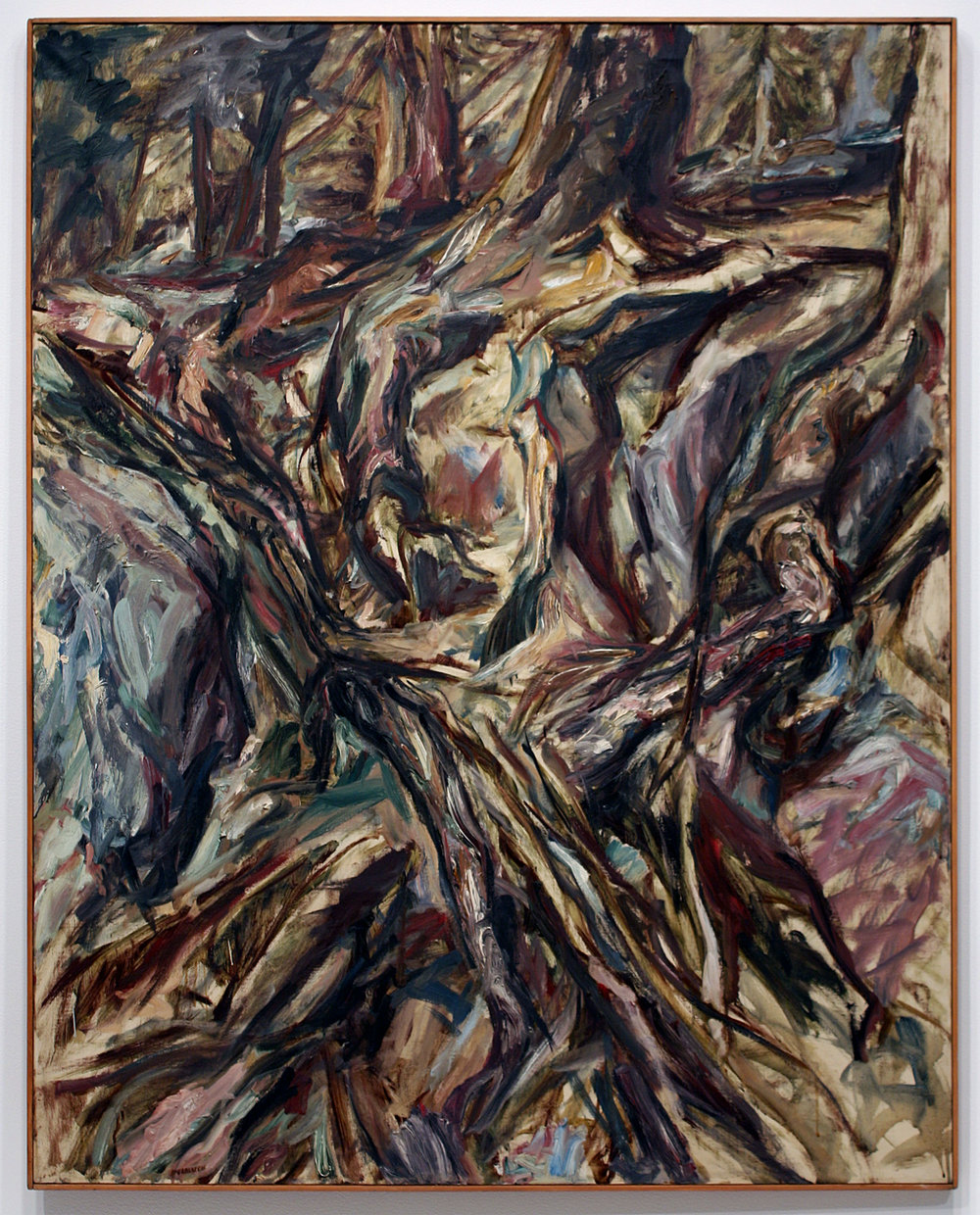 TREE ROOTS , 1957 Oil on canvas 50 x 40 inches