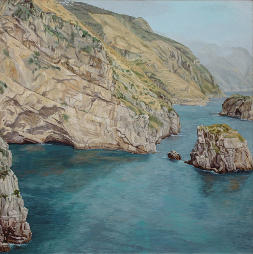 View Toward Positano , 1973 Oil on Canvas 47 1/2 x 47 1/2 inches