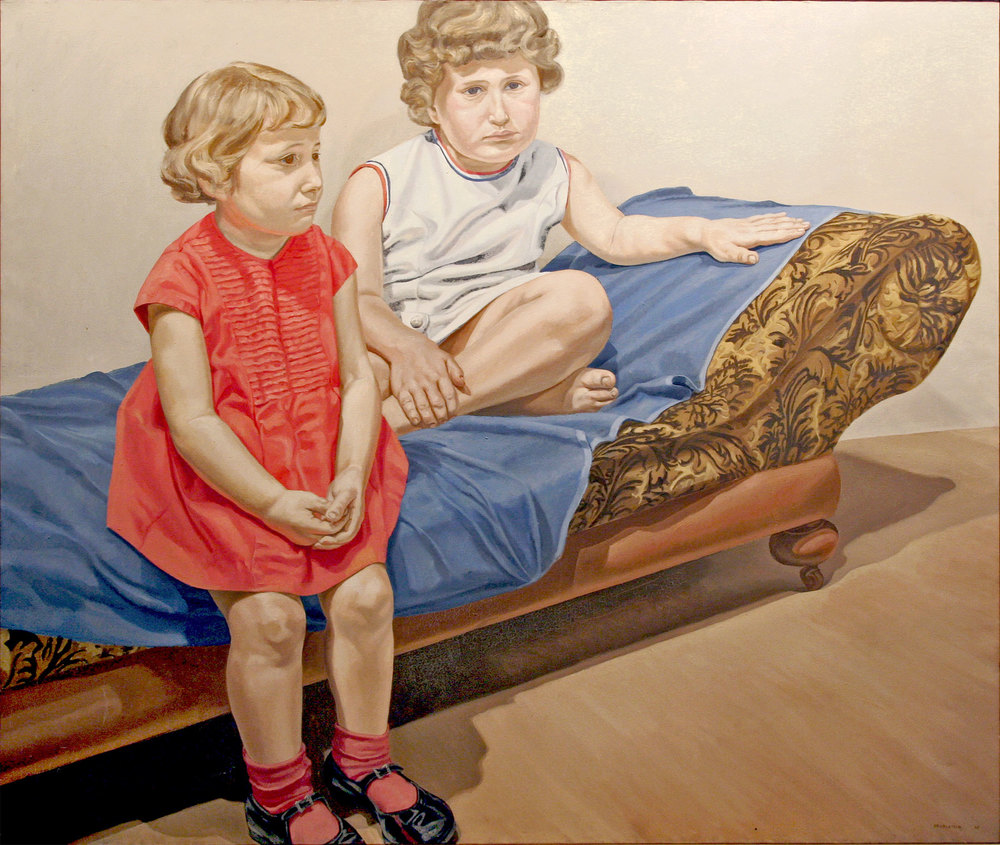 PORTRAIT OF THE ARTIST'S DAUGHTERS , 1967 Oil on canvas 60 x 72 inches