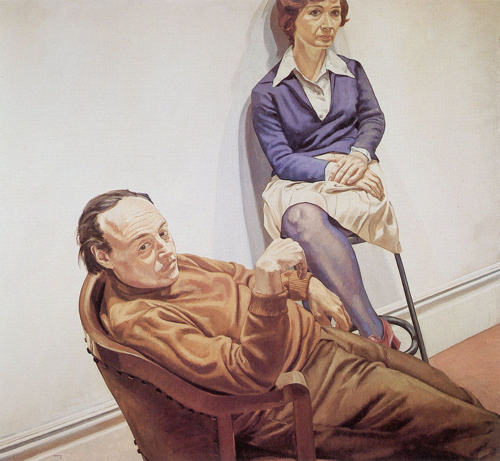 AL HELD AND SYLVIA STONE , 1968 Oil on Canvas 66 x 72 inches