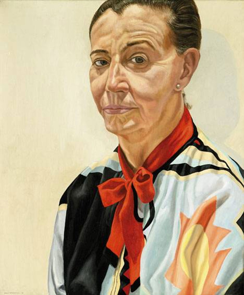 PORTRAIT OF BETH LEVINE (LADY WITH RED BOW) , 1985 Oil on canvas 30 x 25 inches