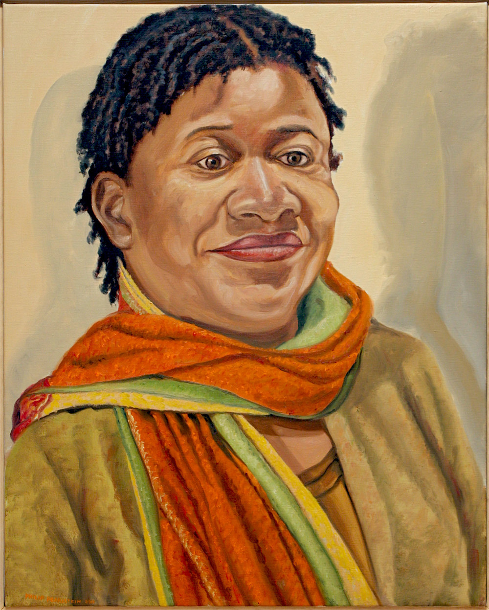 Portrait of Beverly McIver , 2011 Oil on canvas 30 x 24 inches