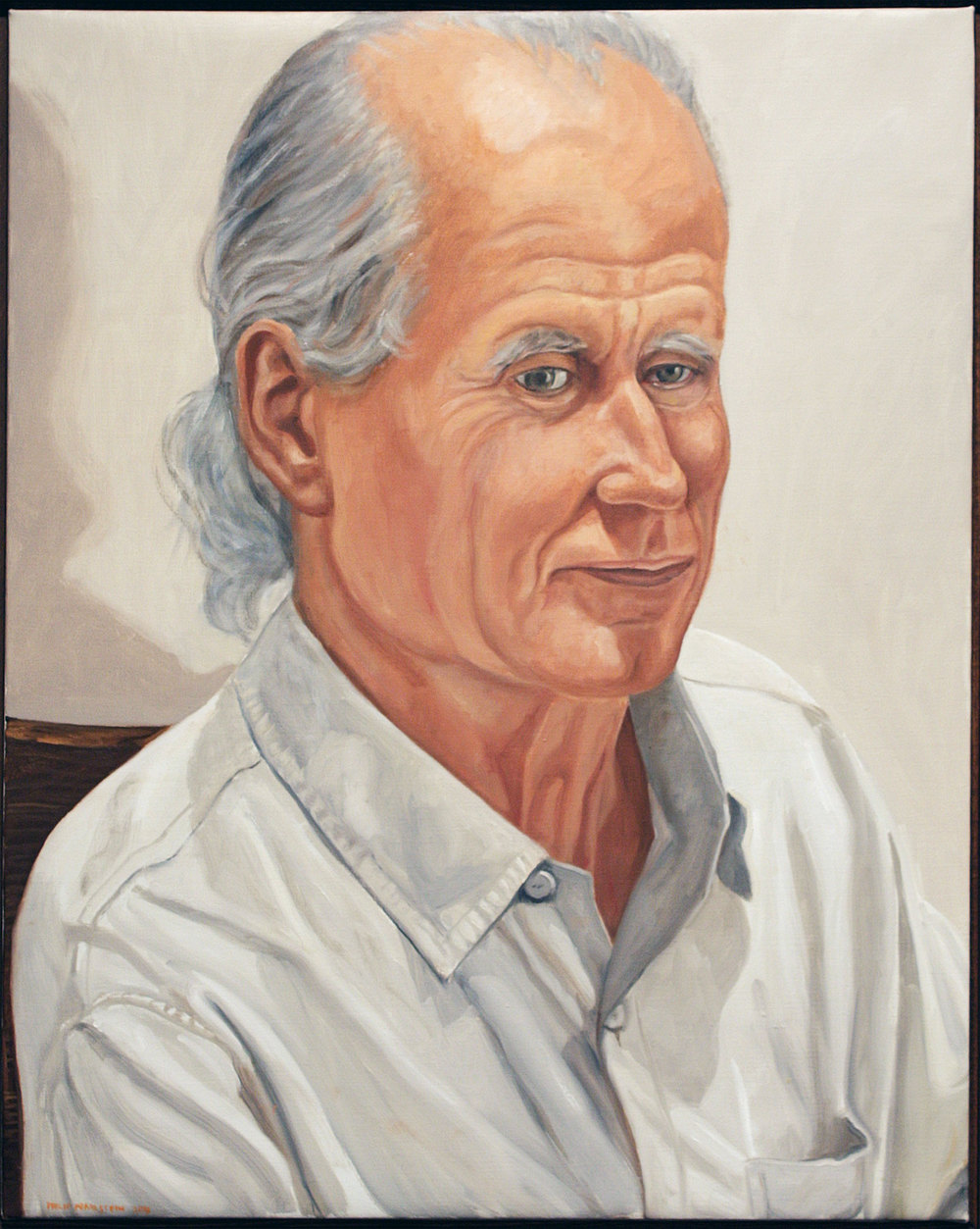 Portrait of Rackstraw Downes , 2011 Oil on canvas 30 x 24 inches